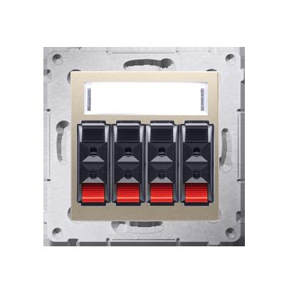 Lautsprecher Anschlussdose Modul-Einsätze 4fach gold matt Kontakt Simon 54 Premium DGL34.01/44
