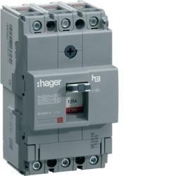 Leistungschalter h3 x160 TM ADJ 3P3D 160A 40kA CTC Hager HNA160H