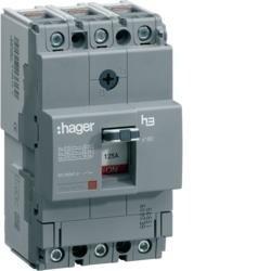 Leistungschalter h3 x160 TM ADJ 3P3D 80A 40kA CTC Hager HNA080H