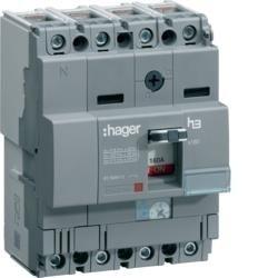 Leistungschalter h3 x160 TM ADJ 4P4D N0-100% 25A 25kA CTC Hager  HHA026H