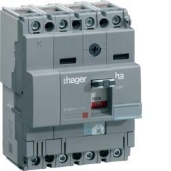 Leistungschalter h3 x160 TM ADJ 4P4D N0-100% 63A 40kA CTC Hager HNA064H