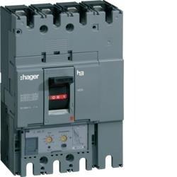 Leistungsschalter Baugröße h630 4polig 50kA 630A elektronischer Einstell. LSI Hager HND463H