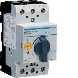 Motorschutzschalter einstellbar von 0,1 bis 0,16A 230/400V Hager MM501N