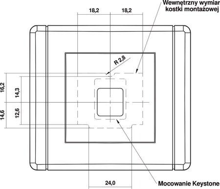 Multimedia-Steckdose ohne Modul (Keystone-Standard) weiß IP20 (Serie/Kategorie: FLEXI) FGM-1P
