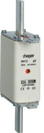 NH-Sicherungseinsatz  NH1C gG 690V 80A Kombimelder Grifflasche spannungsführend Hager LNH1080M6