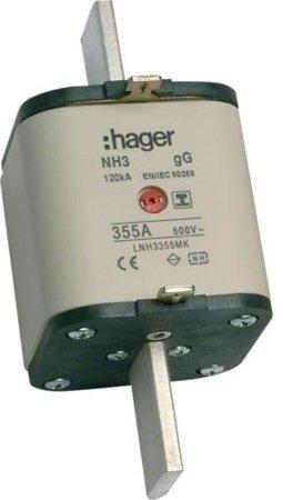 NH-Sicherungseinsatz NH3C gG 500V 355A Kombi- Melder mit isolierter Grifflasche Hager LNH3355MK