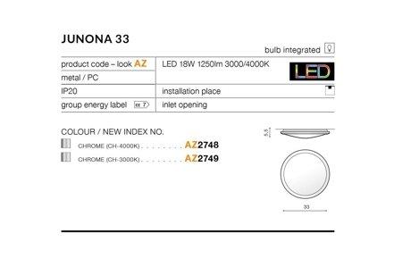 Plafond JUNONA 33 Modern Metall, PC Chrom Azzardo AZ2748