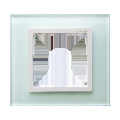 Rahmen 1fach Glas/ Zwischenrahmen weiß Kontakt Simon 82 82617-60