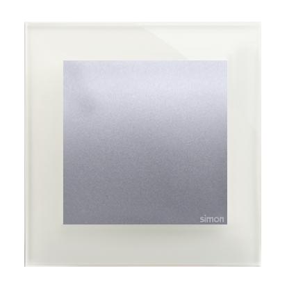 Rahmen 1fach Glas silberner Nebel Kontakt Simon 54 Nature DRN1/71