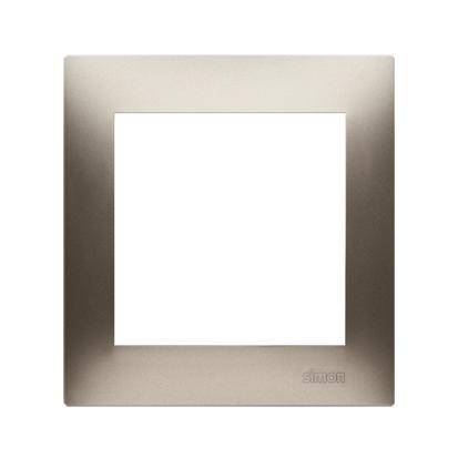 Rahmen 1fach für Hohlwanddose Gipskarton gold matt IP20/IP44 Simon 54 Premium Kontakt Simon DRK1/44