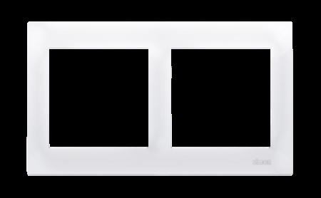 Rahmen 1fach für Hohlwanddose Gipskarton weiß glänzend IP20/IP44 Kontakt Simon 54 Premium DRK2/11