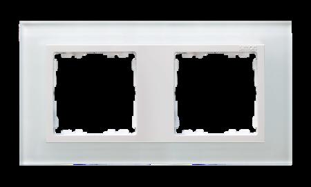Rahmen 2fach Glas weiß/ Zwischenrahmen weiß Kontakt Simon 82 82627-30