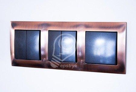 Rahmen 2fach Kupfer IP20/IP44 Simon 54 Premium Kontakt Simon DR2/36