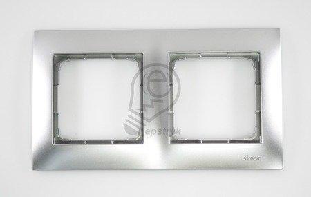 Rahmen 2fach silber matt IP20/IP44 Simon 54 Premium Kontakt Simon DR2/43