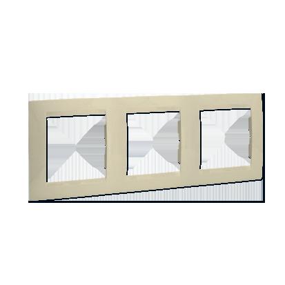 Rahmen 3fach beige glänzend für senkrechte und waagerechte Montage Kontakt Simon 1501630-031