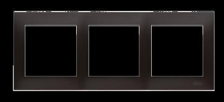 Rahmen 3fach für Hohlwanddose Gipskarton anthrazit matt IP20/IP44 Kontakt Simon 54 Premium DRK3/48