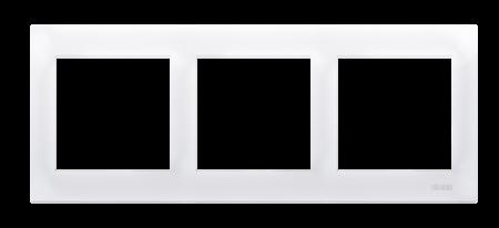 Rahmen 3fach für Hohlwanddose Gipskarton weiß glänzend IP20/IP44 Kontakt Simon 54 Premium DRK3/11