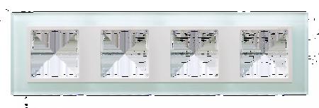 Rahmen 4fach Glas/ Zwischenrahmen weiß Kontakt Simon 82 82647-60