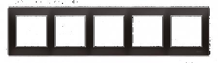 Rahmen 5fach für Hohlwanddose Gipskarton anthrazit matt IP20/IP44 Kontakt Simon 54 Premium DRK5/48