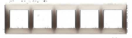 Rahmen 5fach für Hohlwanddose Gipskarton gold matt IP20/IP44 Simon 54 Premium Kontakt Simon DRK5/44