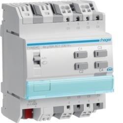 Schalt-/Jalousieaktor 4/2fach 16A KNX Hager TYA604C