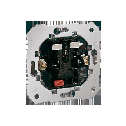 Schalter- Einsatz 1-polig mit Beleuchtung nach dem Einschalten 10AX Kontakt Simon 82 75102-39