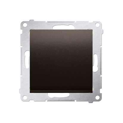 Schalter (Modul) 1polig Braun matt mit Steckklemmen Simon 54 Premium Kontakt Simon DW1.01/46