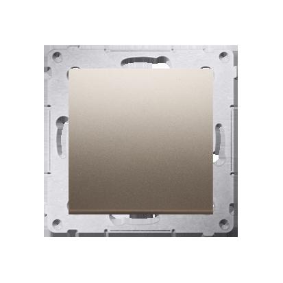 Schalter (Modul) 1polig Gold matt mit Steckklemmen Simon 54 Premium Kontakt Simon DW1.01/44