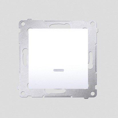 Schalter (Modul) 1polig mit LED Weiß Kontakt Simon 54 Premium DW1L.01/11