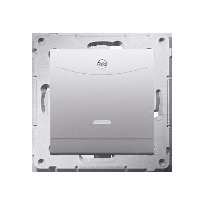 Schalter für Hotelkarte 2polig mit LED Nennstrom: 10A Silber Kontakt Simon 54 Premium DWH2.01/43