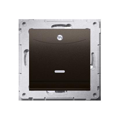 Schalter für Hotelkarte mit LED Nennstrom: 10A Braun Kontakt Simon 54 Premium DWH1.01/46
