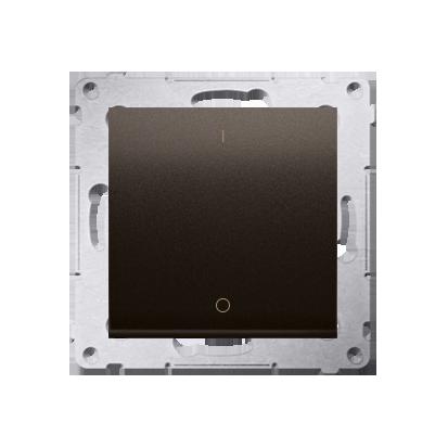 Schalter zweipolig mit Aufdruck und Braun matt Kontakt Simon 54 Premium DW2A.01/46