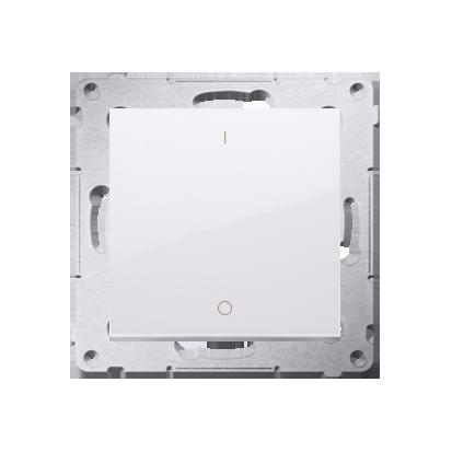 Schalter zweipolig mit Aufdruck und Schraubklemmen Weiß Simon 54 Premium Kontakt Simon DW2A.01/11