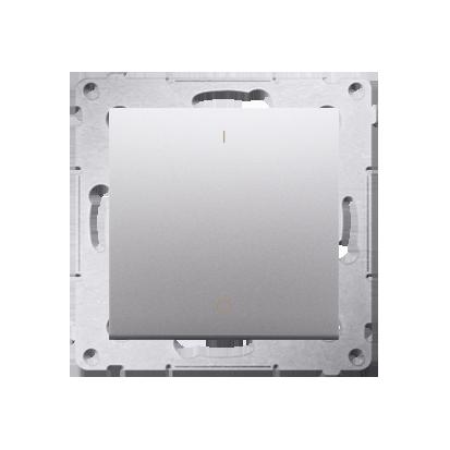 Schalter zweipolig mit Aufdruck und Silber Kontakt Simon 54 Premium DW2.01/43