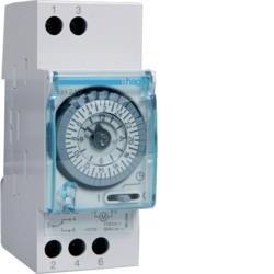 Schaltuhr elektromechanisch ohne Gangreserve Tagesuhr 1W 16A 2 PLE Hager EH210