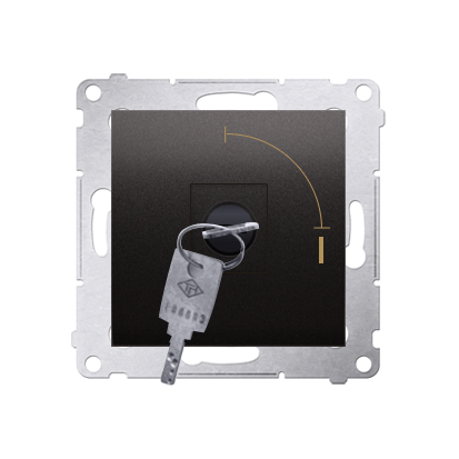 "Schlüsselschalter 1polig ""0-I"" Anthrazit Kontakt Simon 54 Premium DW1K.01/48"