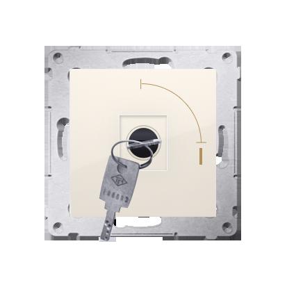 """Schlüsselschalter 1polig """"0-I"""" Cremeweiß Kontakt Simon 54 Premium DP1K.01/41"""