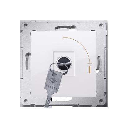 """Schlüsselschalter 1polig """"0-I"""" Weiß Kontakt Simon 54 Premium DW1K.01/11"""