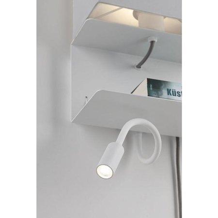Strahler, Wandleuchte mit USB 2A mit Regal MERANI E27 + LED 2,5W Weiß Paulmann PL78913