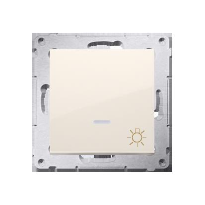 """Taster 1fach (Modul) mit Aufdruck """"Licht"""" und LED cremeweiß Kontakt Simon 54 Premium DS1L.01/41"""