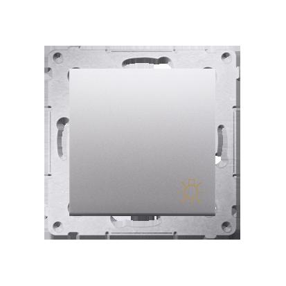 """Taster 1fach mit Aufdruck """"Licht"""" und Silber matt Kontakt Simon 54 Premium DS1.01/43"""