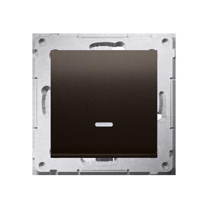 Taster 1fach mit LED Braun matt Kontakt Simon 54 Premium DP1AL.01/46