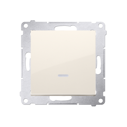Taster 1fach mit LED cremeweiß matt Kontakt Simon 54 Premium DP1AL.01/41
