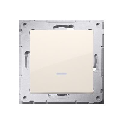 Taster Wechsler (Modul) 1 polig mit LED und cremeweiß Kontakt Simon 54 Premium DP1L.01/41
