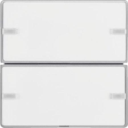 Tastsensor 2fach Komfort mit Beschriftungsfeld KNX Q.x alu samt lackiert Hager 80142321