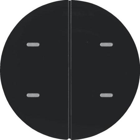Tastsensor 2fach Komfort mit Beschriftungsfeld KNX R.x schwarz glänzend Hager 80162865