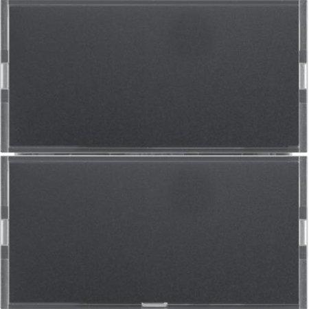 Tastsensor 2fach Komfort mit Beschriftungsfeld KNX S.1/B.x anthrazit/alu Hager 80162785
