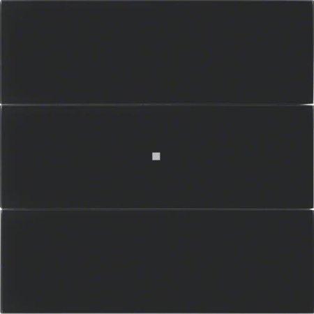 Tastsensor 3fach B.IQ Glas schwarz Hager 75163592