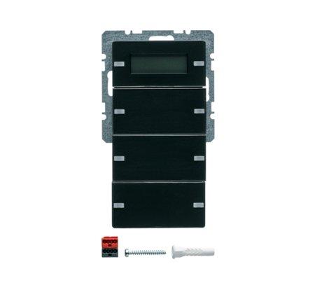 Tastsensor 3fach mit Beschriftungsfeldern RTR Display Q.1/Q.3 anthrazit samt Hager 75663726