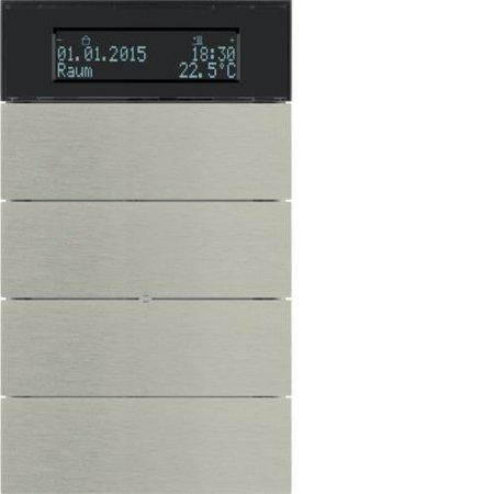 Tastsensor 4fach mit Temperaturregler und Display B.IQ  Edelstahl Rostfrei Hager 75664593